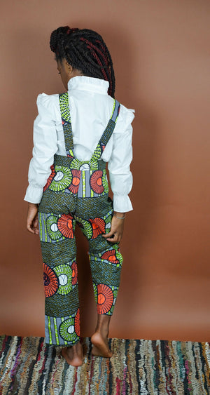 Yemi Overall Pants (Kids)   - Okun -Strength- Collection (Green & Orange)