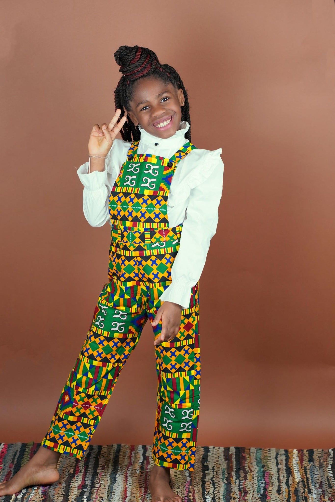 Yemi Overall Pants (Kids)   - Okun -Strength- Collection (Yellow, Green & Red)