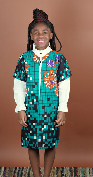 Adesola (Sola) Jacket  (Kids)  - Okun -Strength- Collection (Teal & Orange)