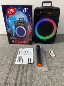 BLUETOOTH KAROKE SPEAKER WIRELESS OUTDOOR INDOOR PORTABLE