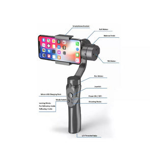 3 Axis Handheld Gimbal Smart Phone Gyroscope Stabiliser Recording Steady Cam