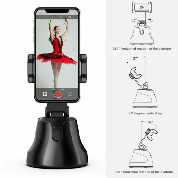 Apai Genie 360 degree auto tracking smart shooting phone holder for Selfie Stick Smartphone Vlog Camera Face object tracking