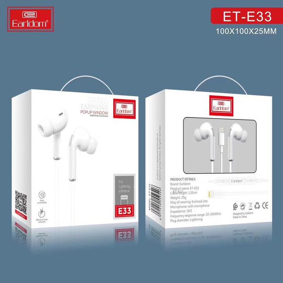 Earldom ET18 Wired Earphones with mic headphones iphone samsung