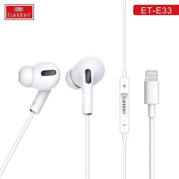 EARLDOM STEREO EARPHONE LIGHTNING CONNECTOR POP UP WINDOW BLUETOOTH