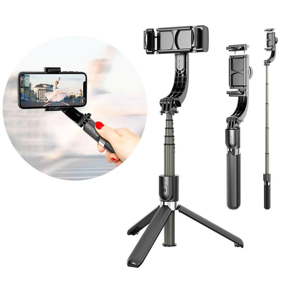 L08 Gimbal Stabilizer Bluetooth Selfie Stick Tripod Wireless Bluetooth 4.0 10m 360 Degree Rotation