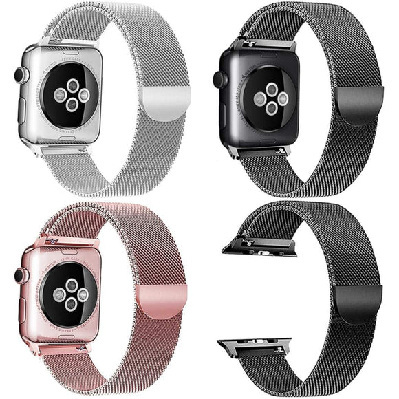 Apple Watch Band Metal Stainless Steel Milanese Loop Wristband Strap