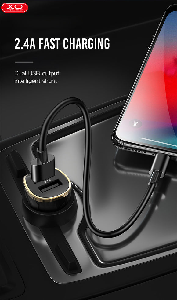 XO CAR CHARGER DOUBLE USB PORT DESIGN CC19