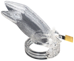 Cage de chasteté en plastique transparent l'alligator