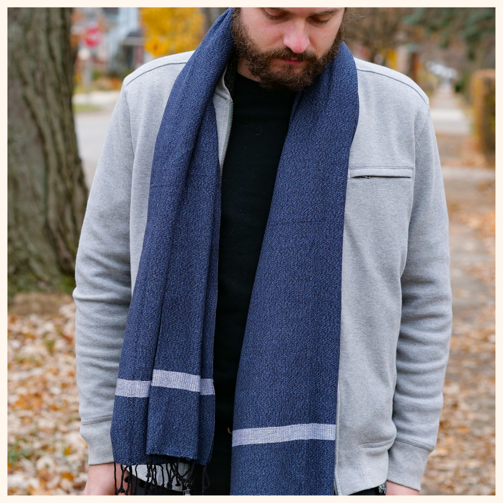 soft cotton scarf gift for him