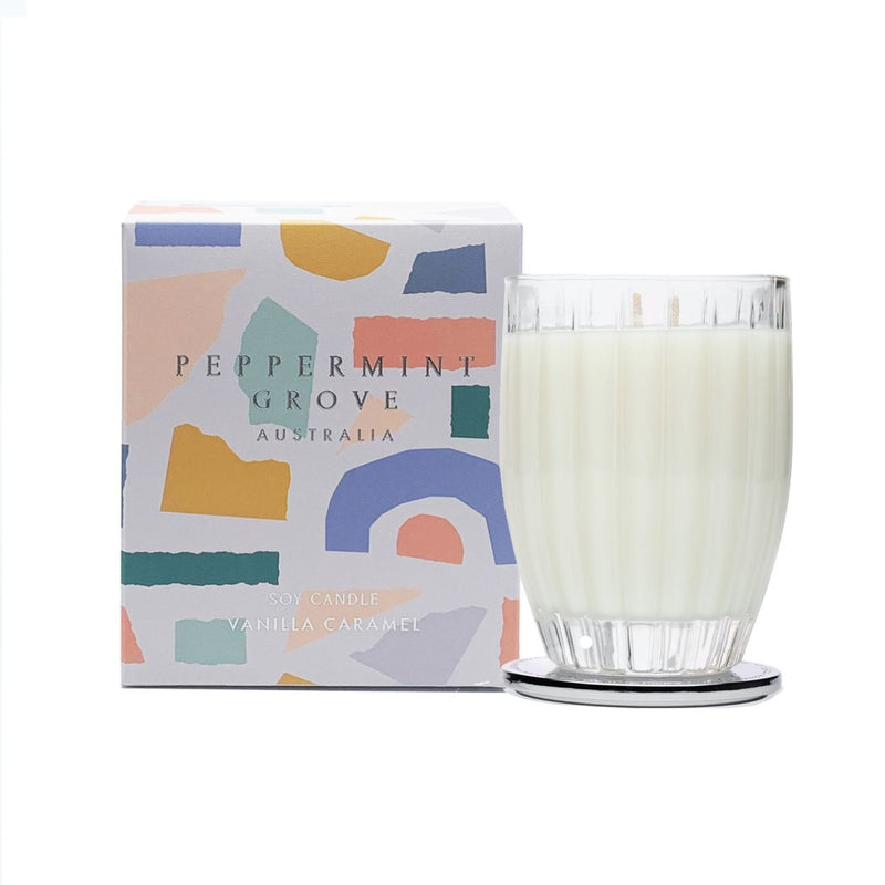 Limited Edition Vanilla Caramel Candle || Peppermint Grove