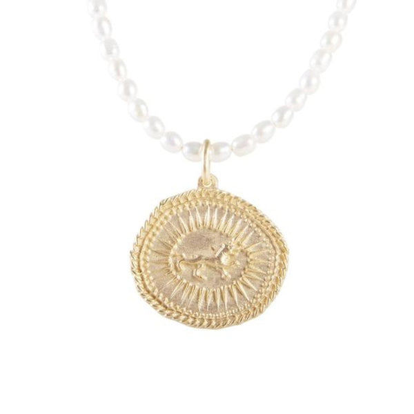 Lioness Seed Necklace || Pearl || Fairley
