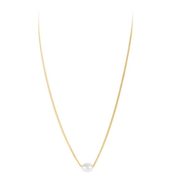 Mini Pearl Teardrop Necklace || Pearl || Fairley