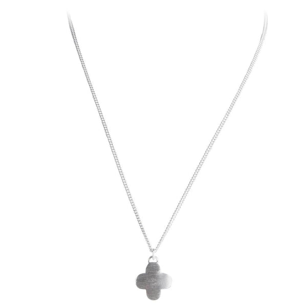 Moroccan Drop Necklace || Silver || Fairley
