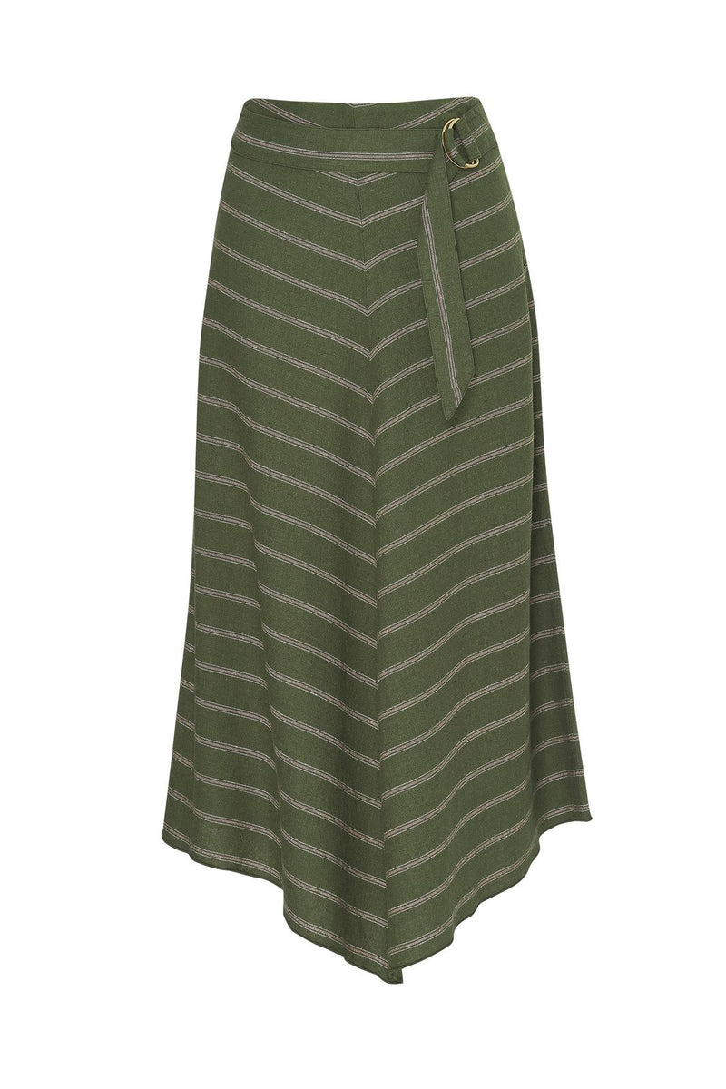 Fine Line Skirt || Khaki Stripe || Madly Sweetly