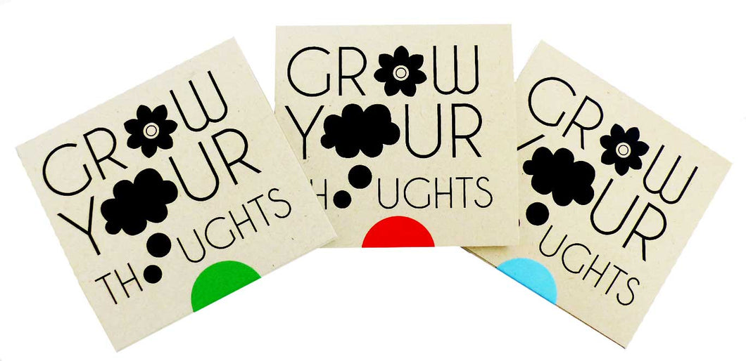 Grow your thoughts- Groeipapier kaarten