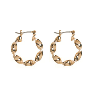 Twisted hoops gold - Timi of Sweden