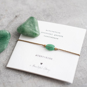 Gemstone Card Aventurijn