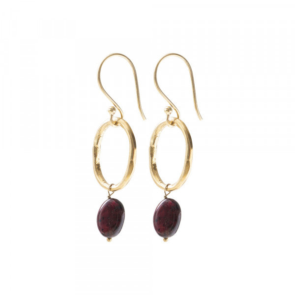 Graceful Ganate Gold Earrings