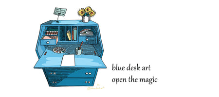 Blue Desk Art