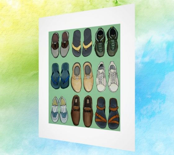 Choose your Shoe Art Print