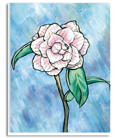 Story Rose Greeting Card