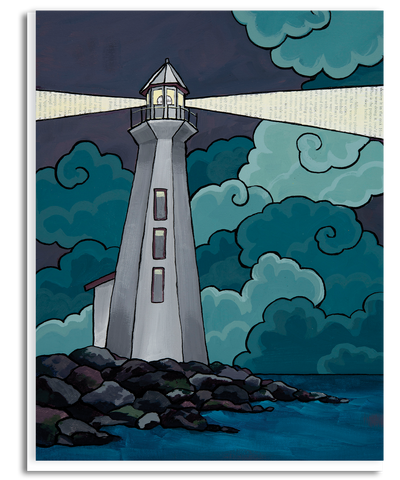 Guiding Lighthouse Greeting Card
