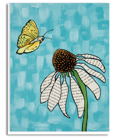 Butterfly and Echinacea Flower Greeting Card