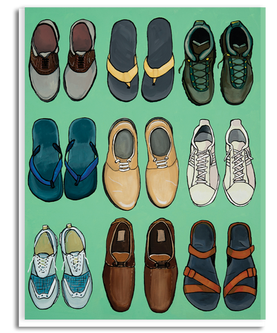 Pairs of Shoes Greeting Card