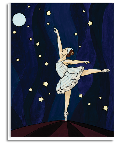 Reaching Ballerina Greeting Card