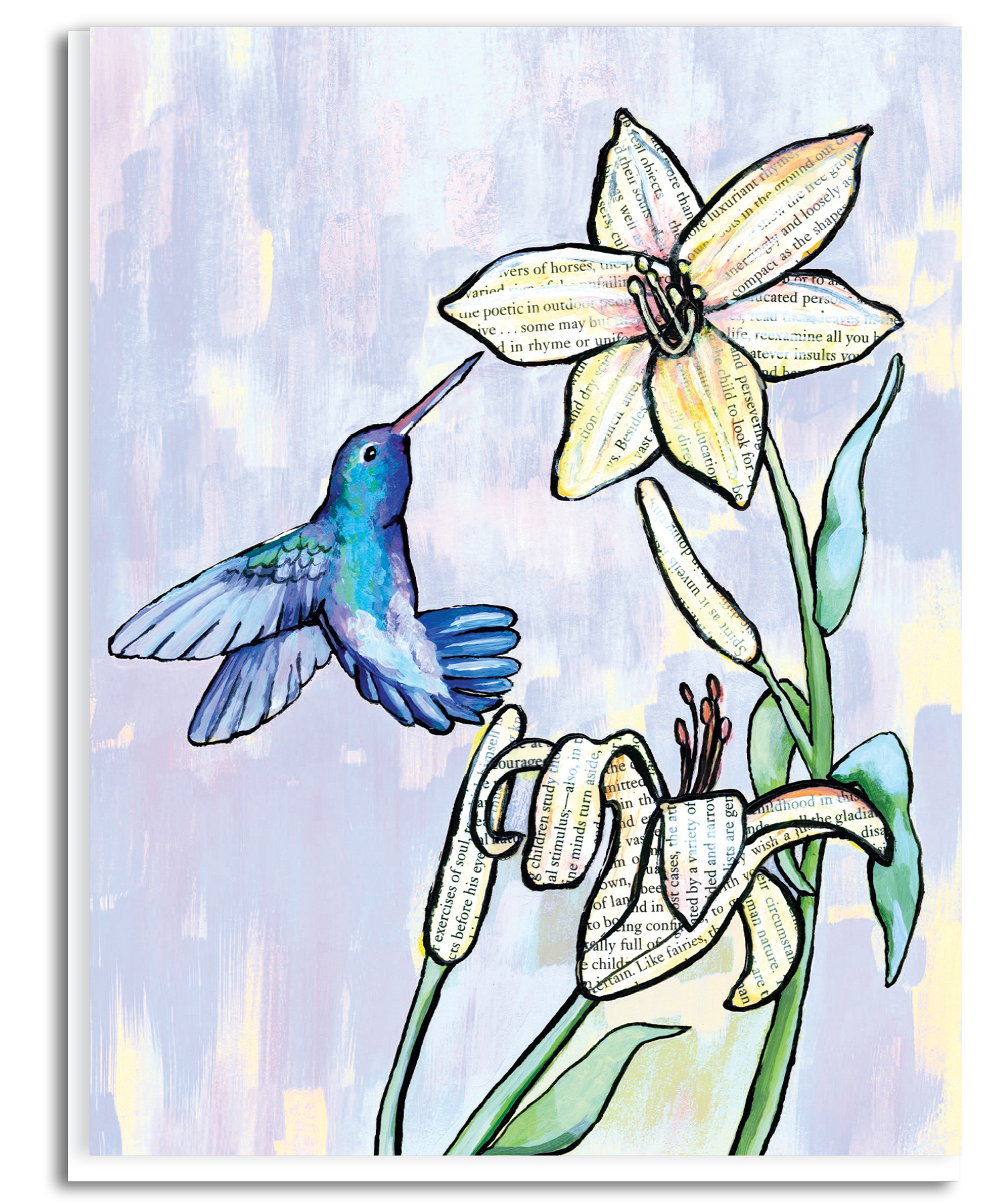 Hummingbird and Lily Greeting Card