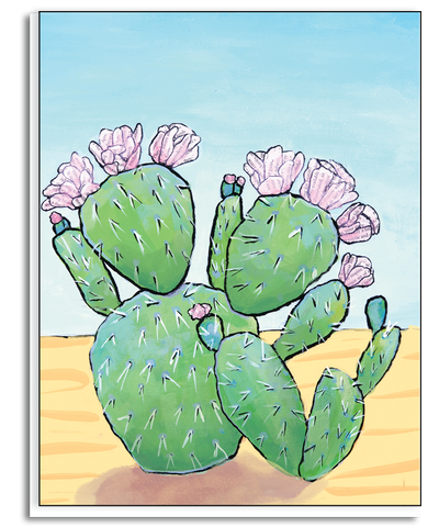 Flowering Cacti Greeting Card