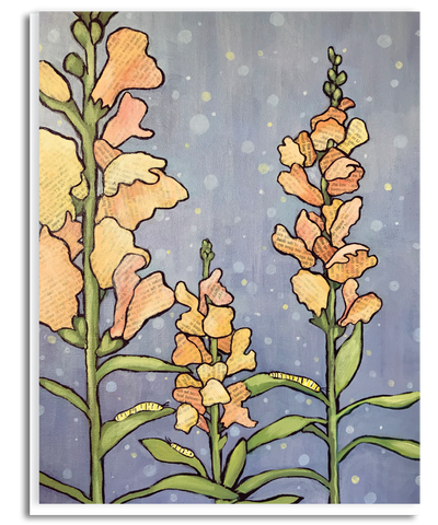 Snap Dragon Story Garden Greeting Card