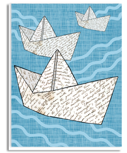 Paper Ships Greeting Card