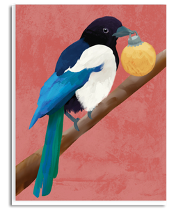 Festive Magpie Greeting Card