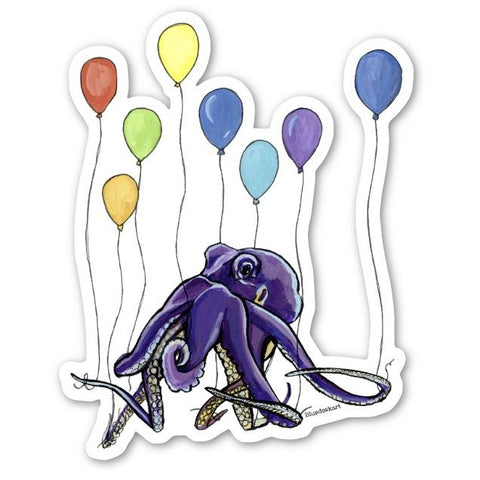 Party Octopus Sticker