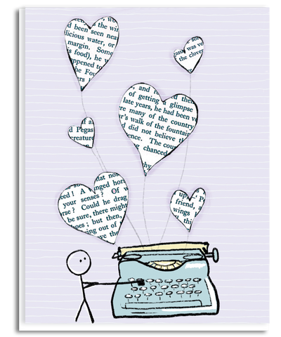 Writing a Love Story Greeting Card