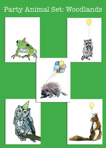Party Animal Set: Woodland Creatures