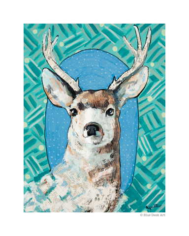 Deer Portrait 8x10