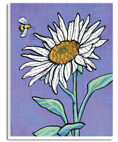 Bee and Flower Greeting Card