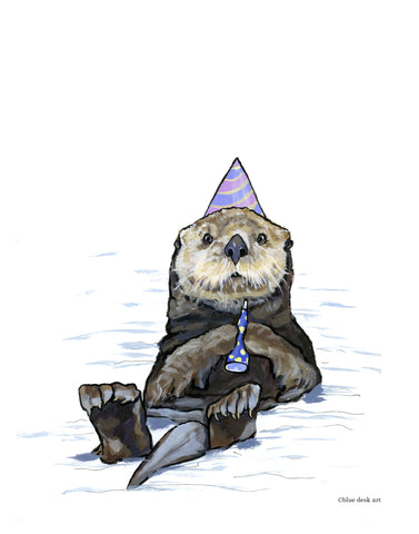 Party Otter Art Print