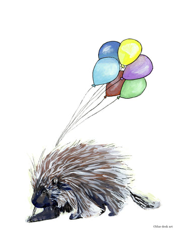 Party Porcupine Art Print