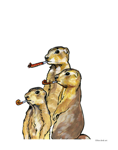 Party Prairie Dogs Art Print