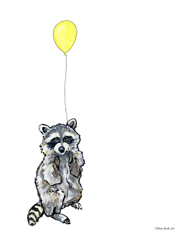 Party Raccoon Art Print