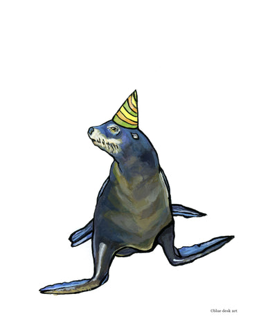 Party Sea Lion Art Print