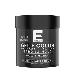 Elegance Hair Styling Gel Plus Color Black 250 ml