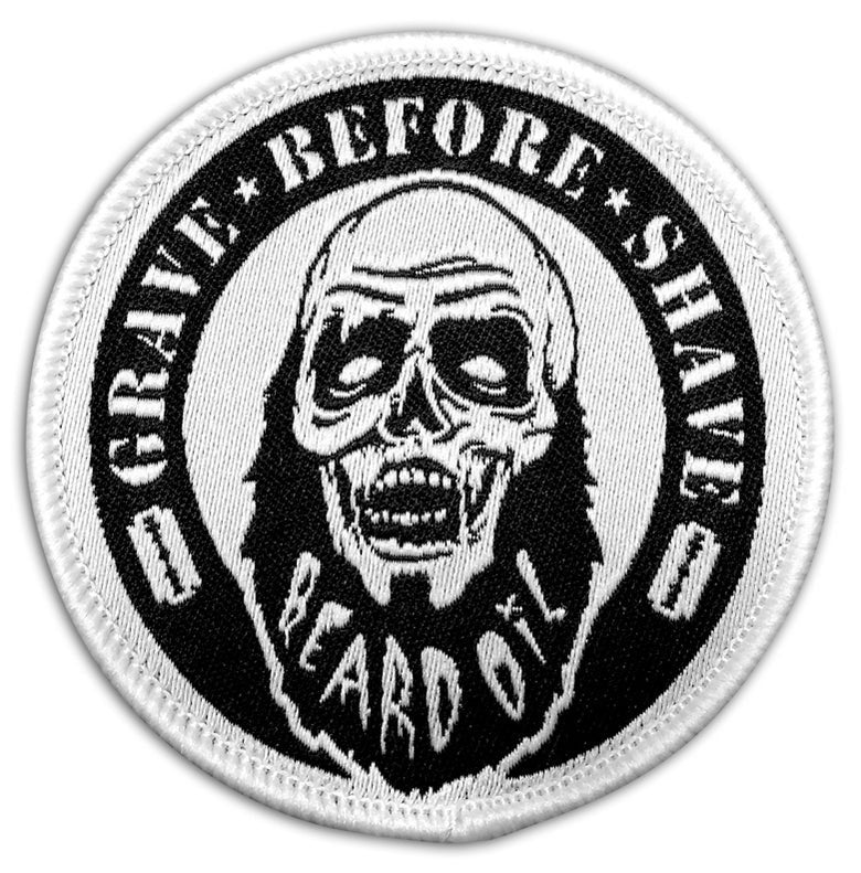 GRAVE BEFORE SHAVE Zombie Beard Patch