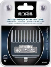 "Load image into Gallery viewer, Andis Professional Master Premium Metal Clip Comb - Size #0 1/16"" (1.5mm)"