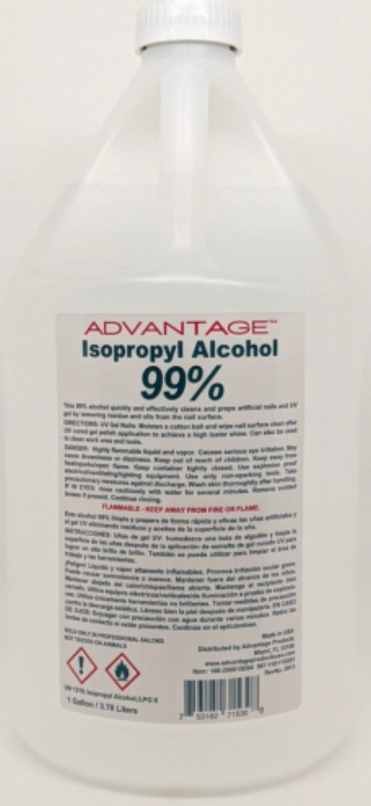 Advantage 99% Isopropyl Alcohol - 1 Gallon