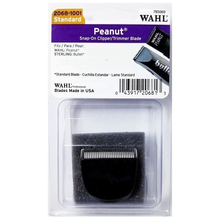 Wahl Peanut Snap-on Clipper / Trimmer Blade - Black