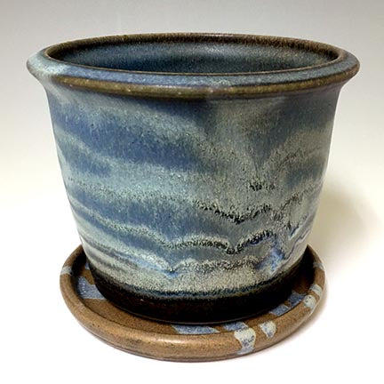 Regular Joe  Planter - Rutile Blue Matt Glaze